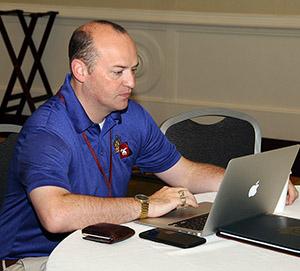 shriner at laptop