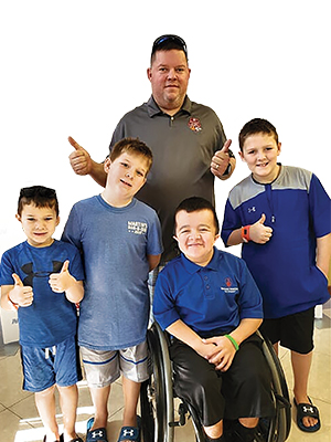 shriner with sons and alec