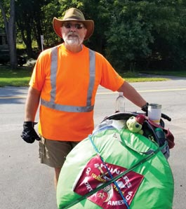 Shriner with donations