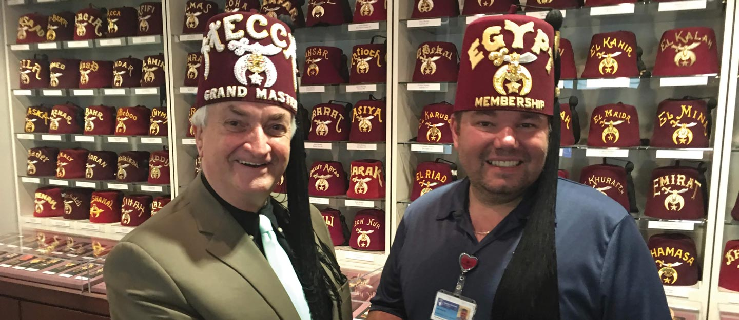 Bill Sardone and another Shriner leader