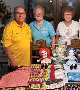 Shriner family with dolls