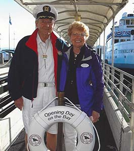 Shriner and wife Yacht Club members