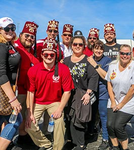group of shriners at tailgate